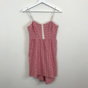 UO Coped striped open back dress EUC